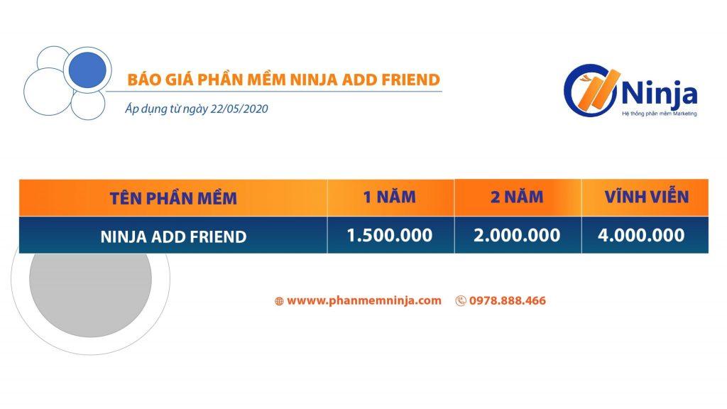 Tool kết bạn tự động ninja add friend